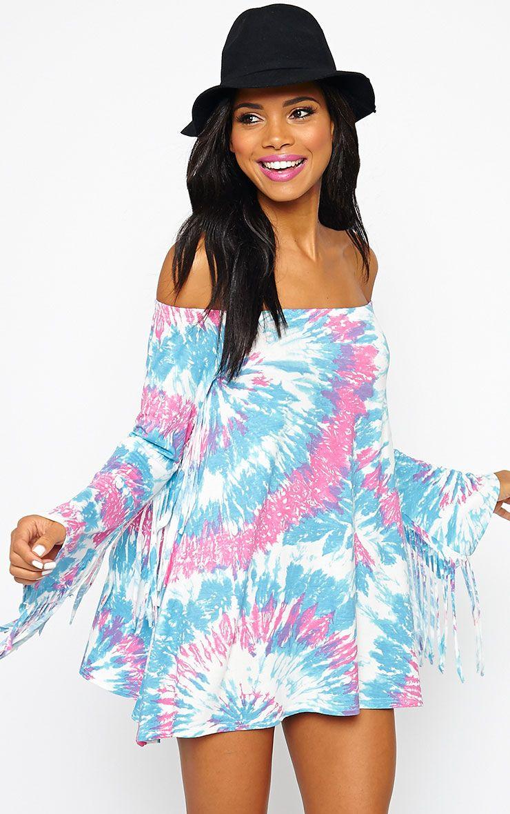 Danni Tie Dye Bell Sleeve Dress 1