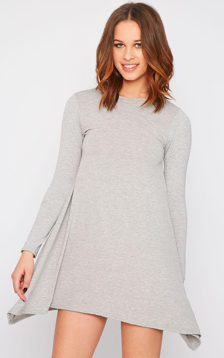 Basic Grey Swing Dress 1