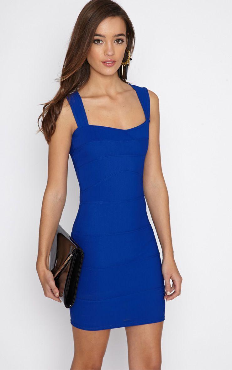 Faith Cobalt Bandage Mini Dress 1