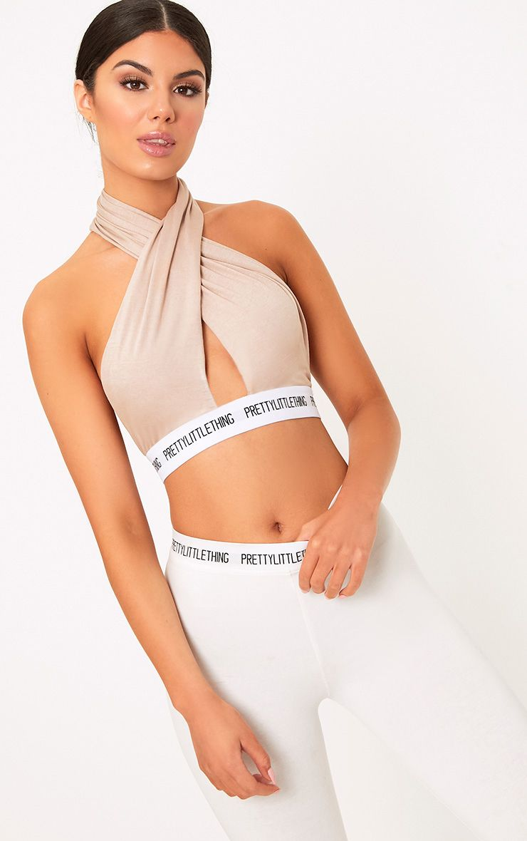 PrettyLittleThing Nude Wrap Front Bra