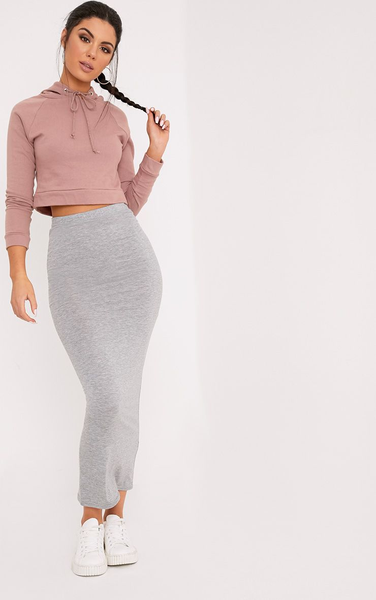 Basic Grey Midaxi Skirt