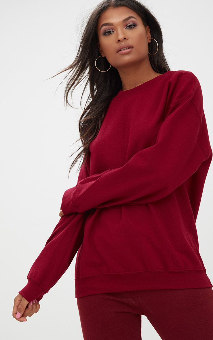 Burgundy Ultimate Oversized Sweater