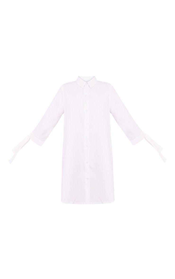 Maysia White  Cuff Detail Shirt Dress 3