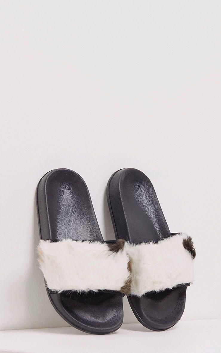 Elvira Multi Faux Fur Sliders