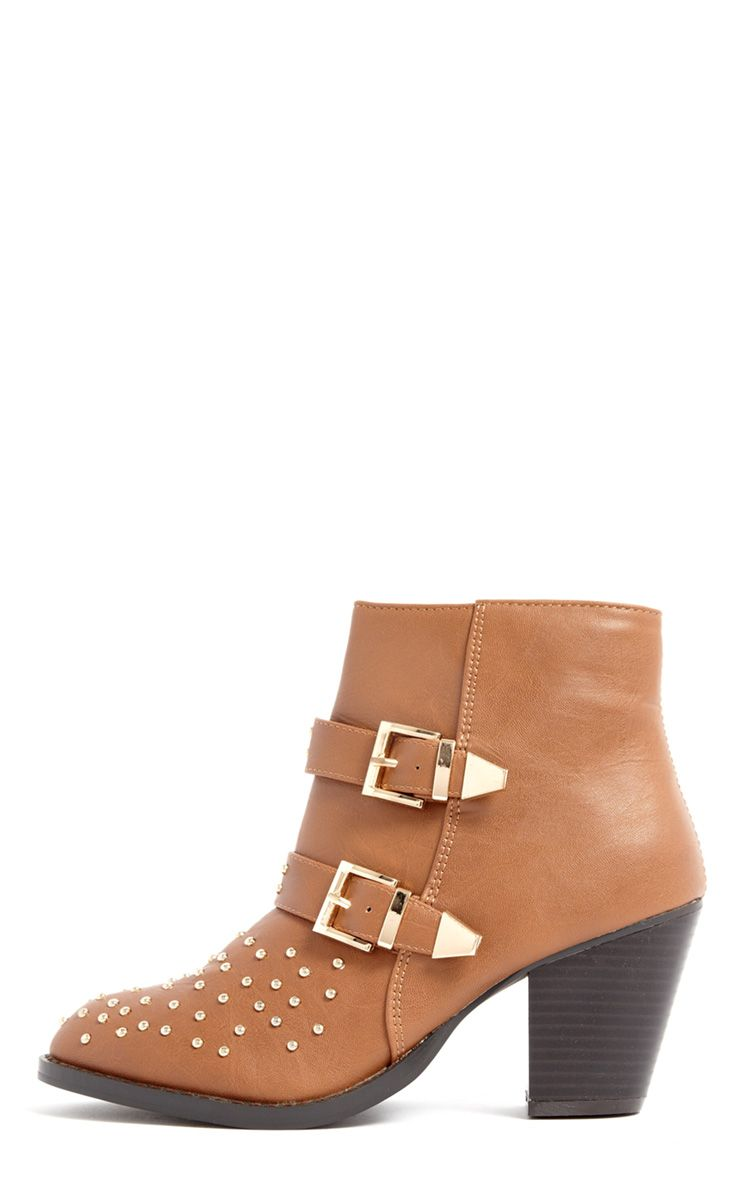 India Tan Stud Buckle Boots 1
