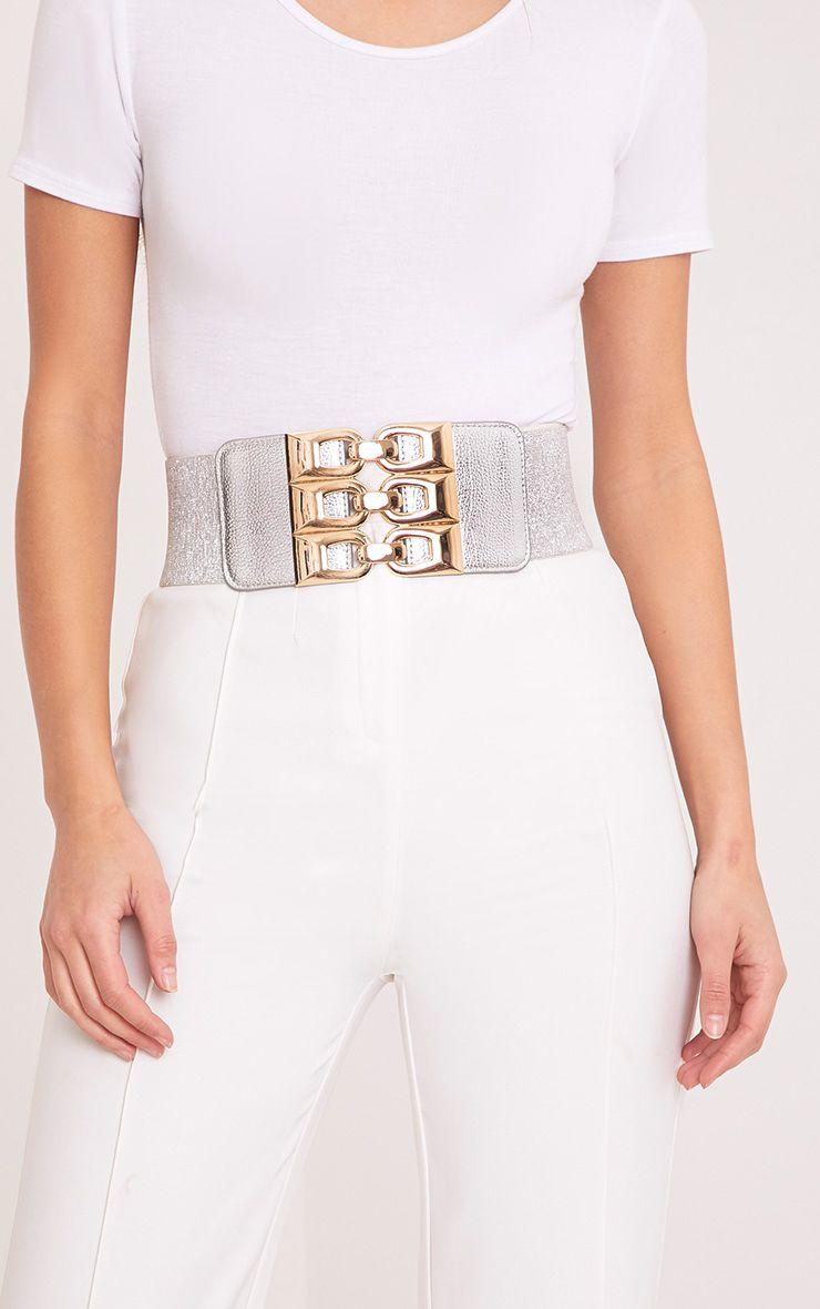 Lonie Silver Triple Hook Front Waist Belt