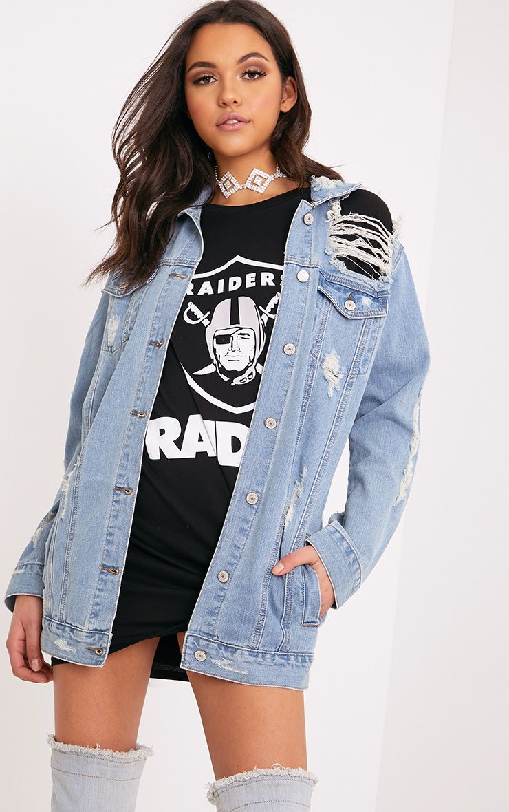 Women's Denim Jackets | Cropped & Ripped | PrettyLittleThing