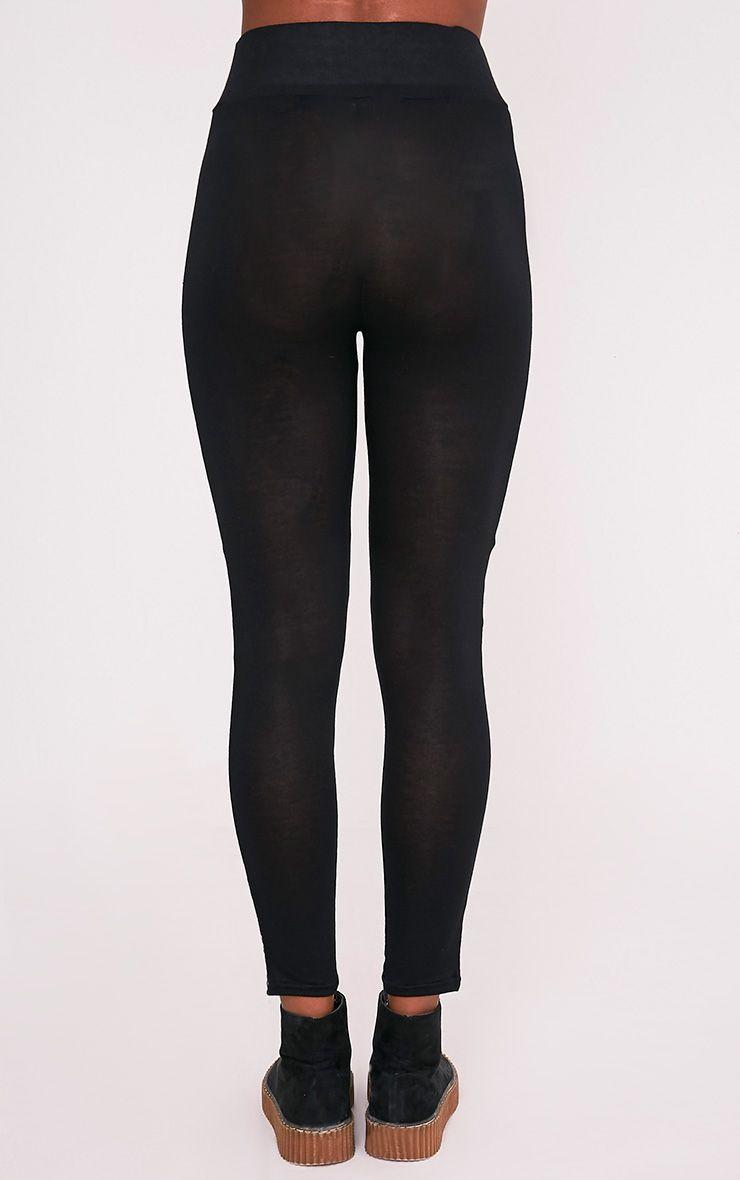 Legging noir à bandes latérales Pretty Little Thing 5