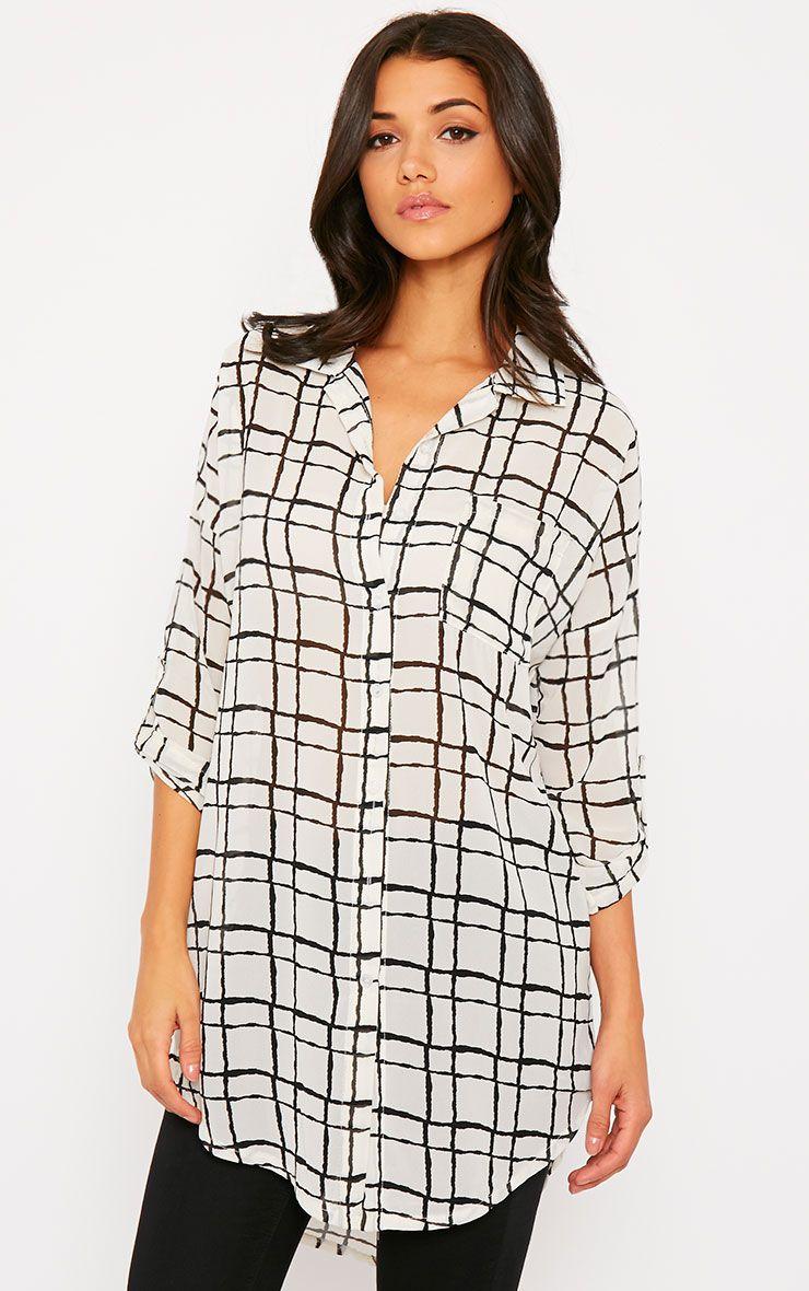 Priya Cream Check Shirt 1