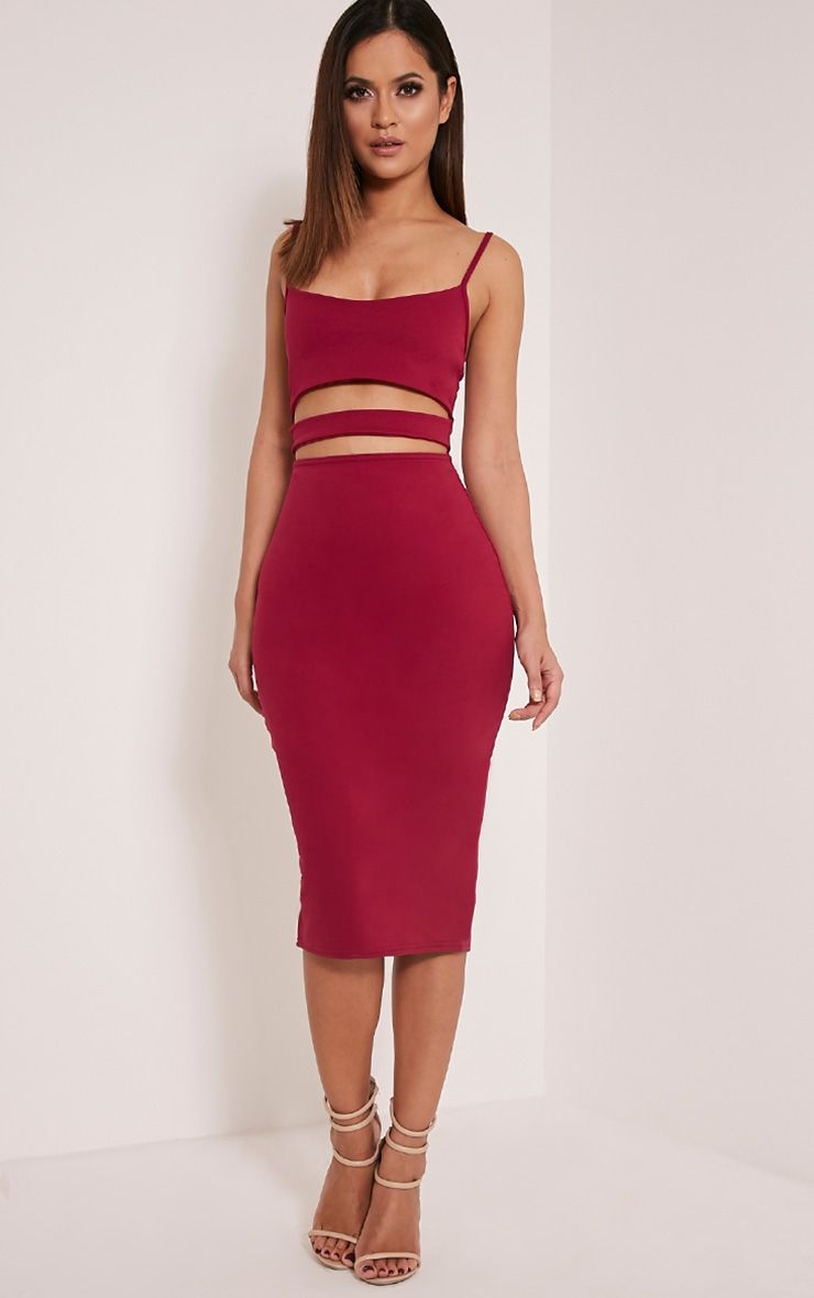 Kheelie Berry Cut Out Midi Dress