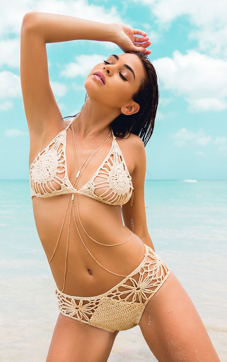 Maddy Beige Crochet Bikini