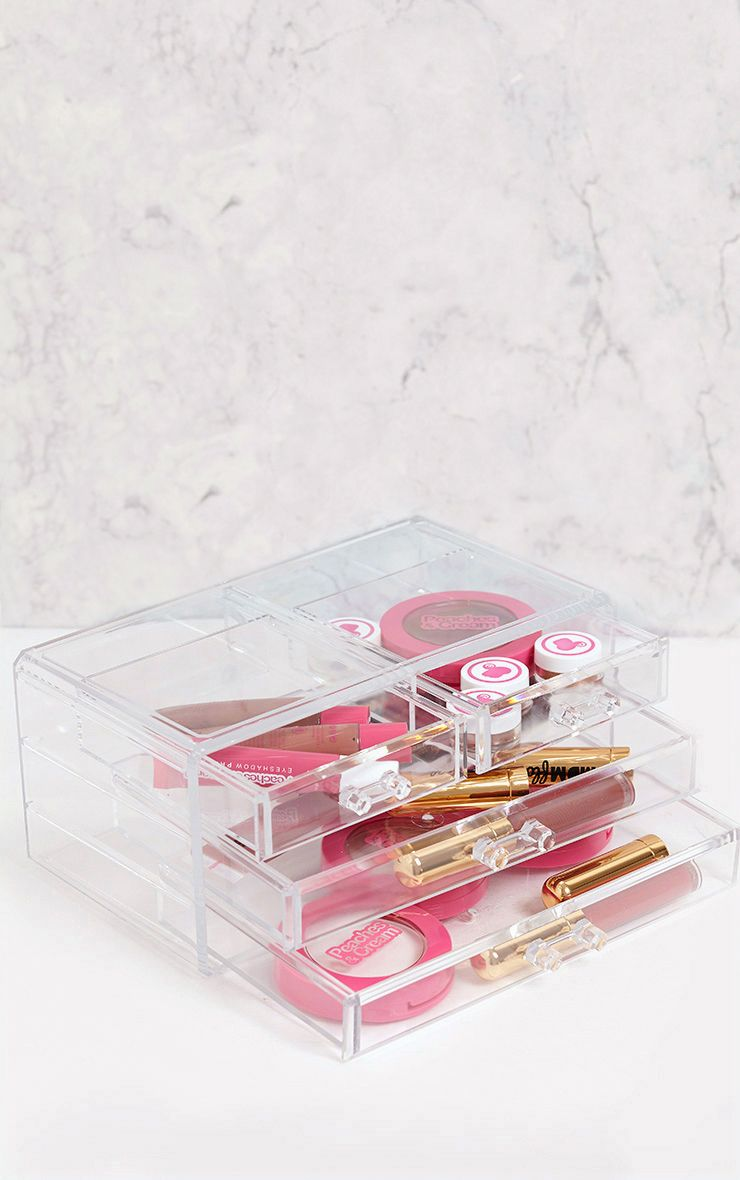 Technic Clear Four Drawer Cosmetics Organiser