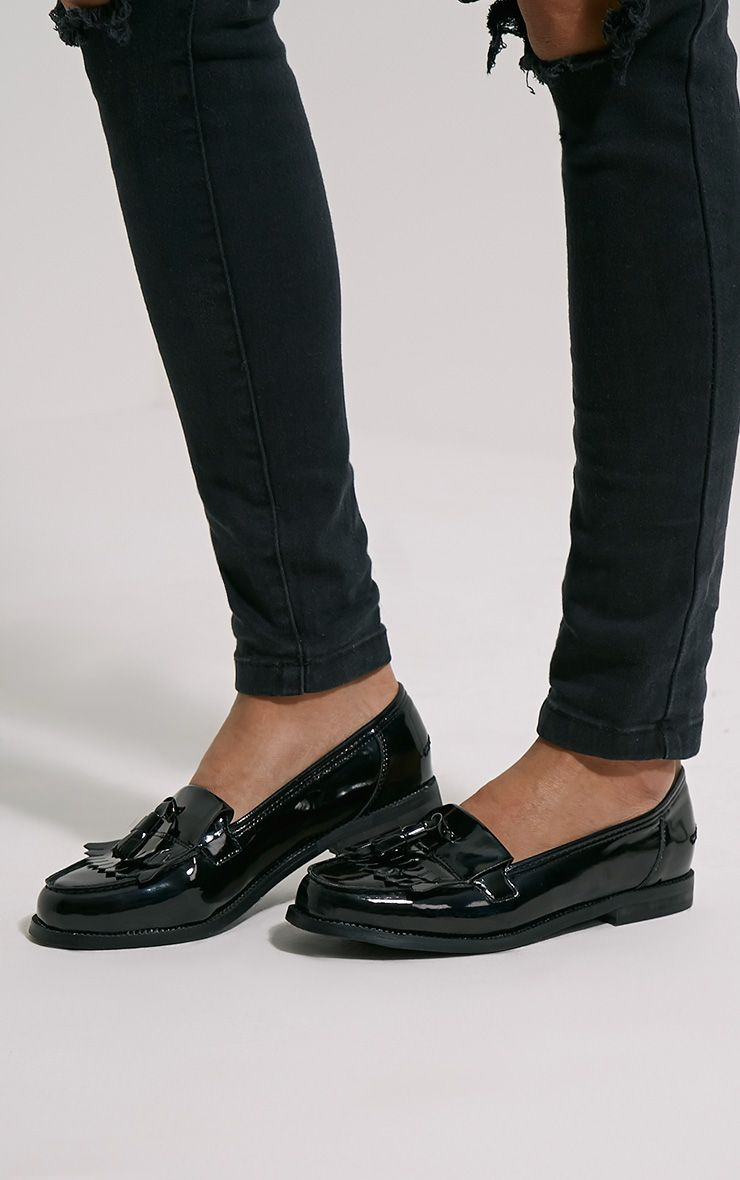 Trella Black Patent Loafers 1