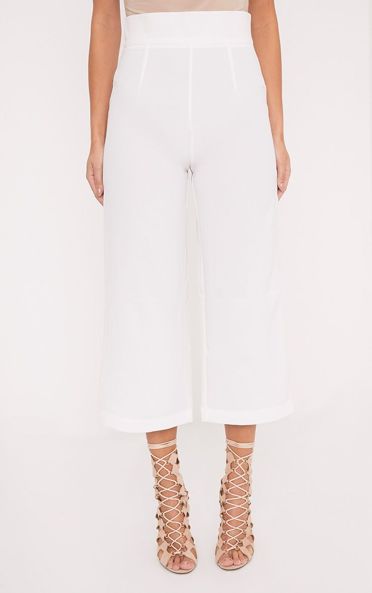 TAZMIN WHITE HIGH WAISTED CULOTTES