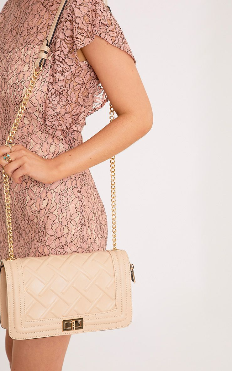 Cindy Nude Chain Strap Shoulder Bag