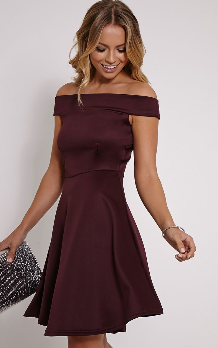 Mona Berry Bardot Skater Dress 1
