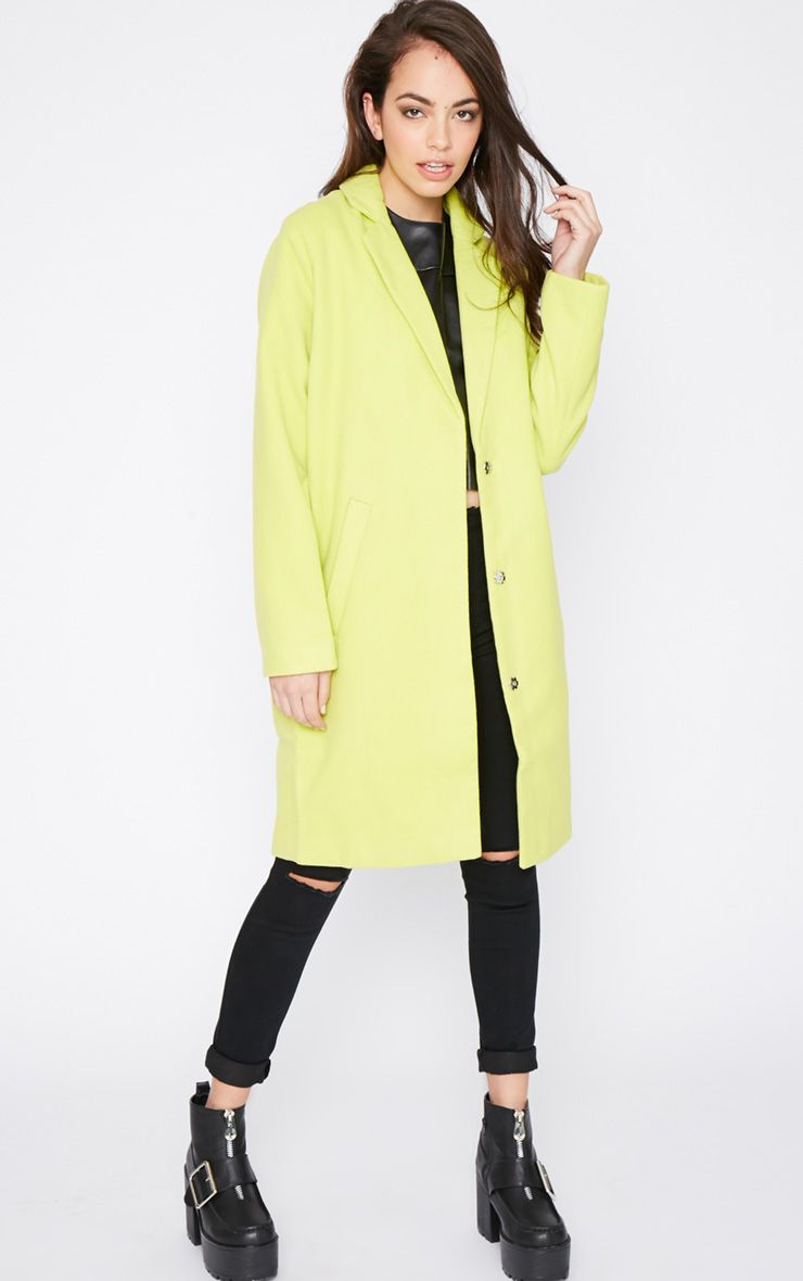 Avril Lime Longline Boyfriend Coat  1