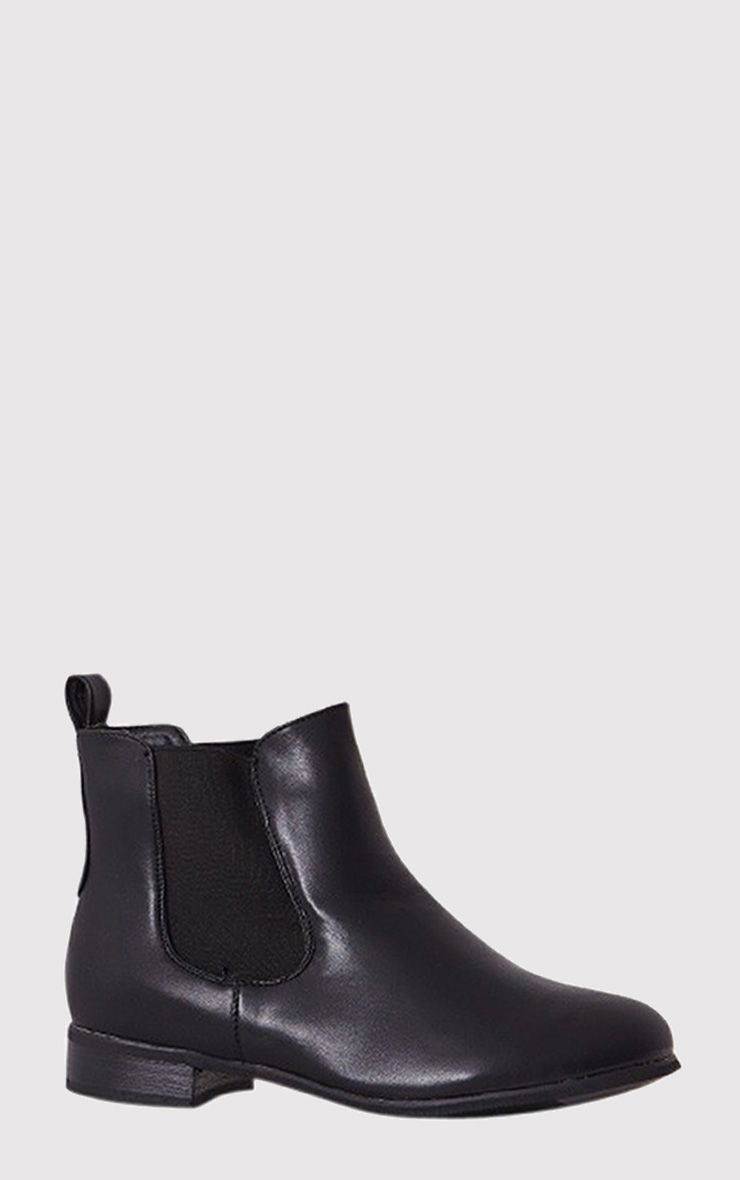 Kenley Black Faux Leather Chelsea Boots 1