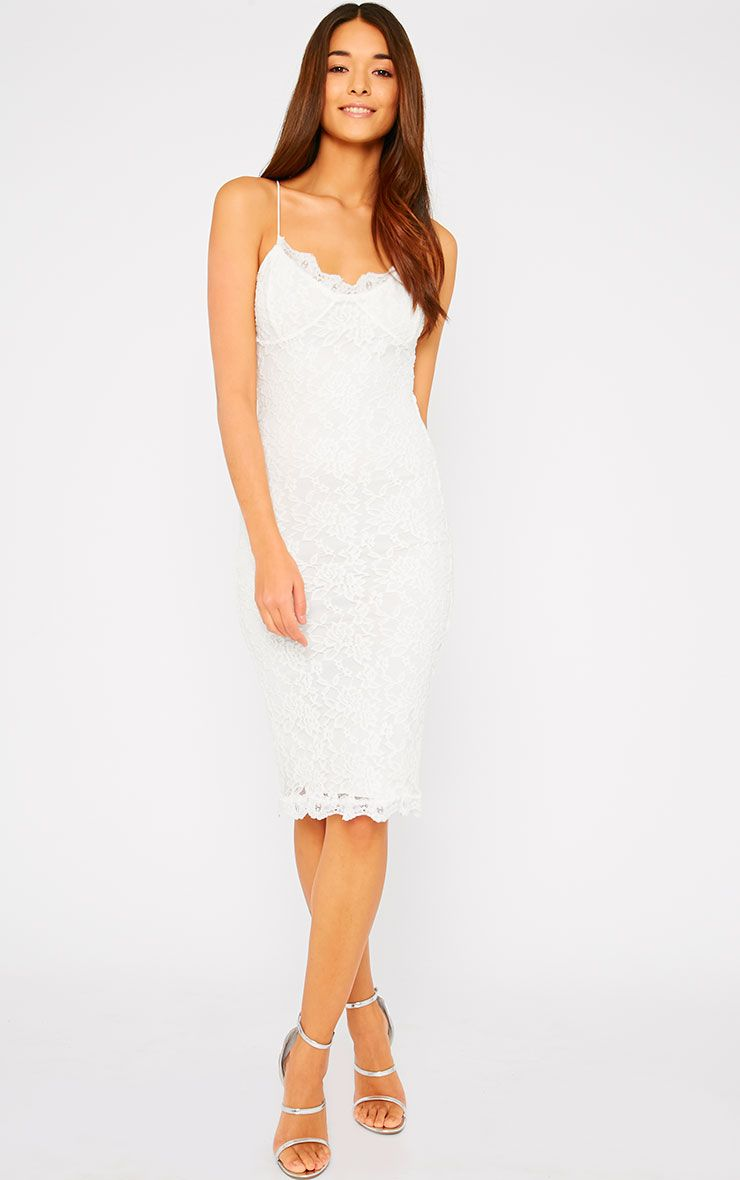 Isabelle Cream Lace Midi Dress 1