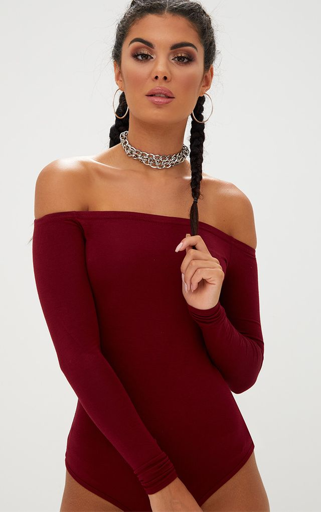 Plus Camel Basic Bardot Bodysuit Pretty Little Thing Cheap 2018 Best Store To Get Sale Online Sale Shop Offer Q5nES3