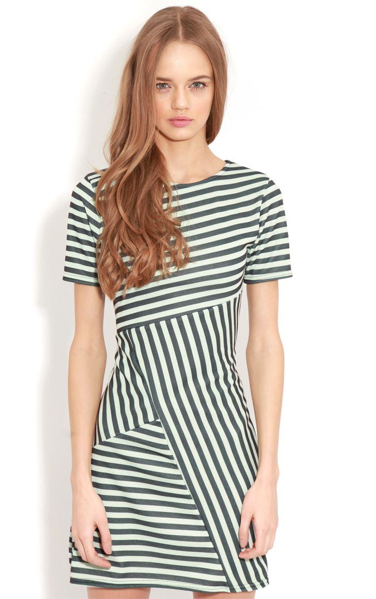 Electra Green Stripe Bodycon Dress 1
