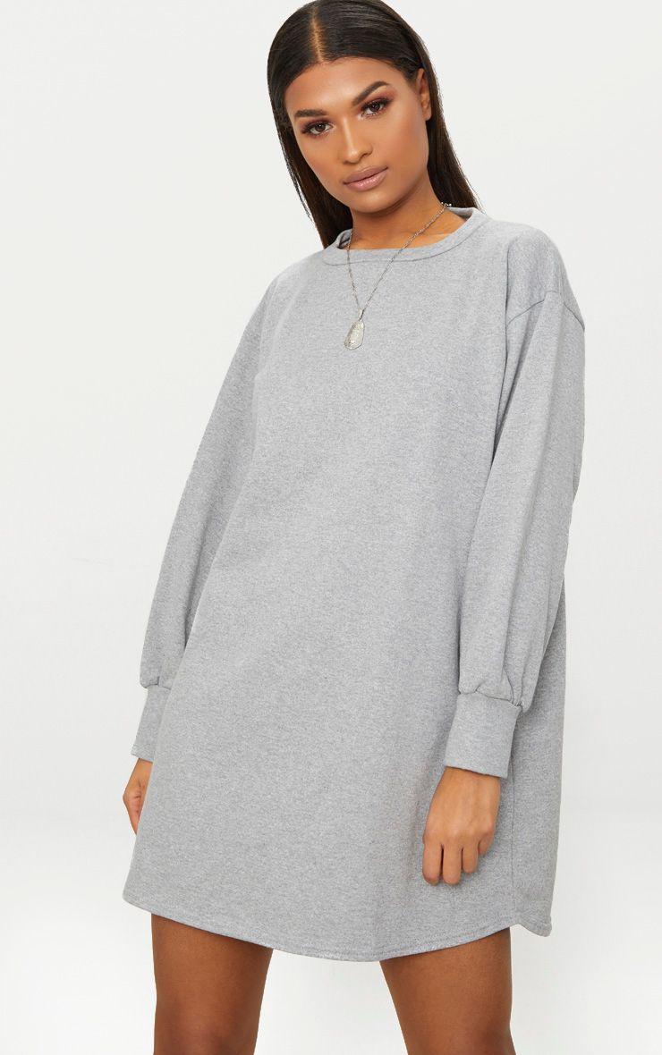 Grey Oversized Sweater Dress