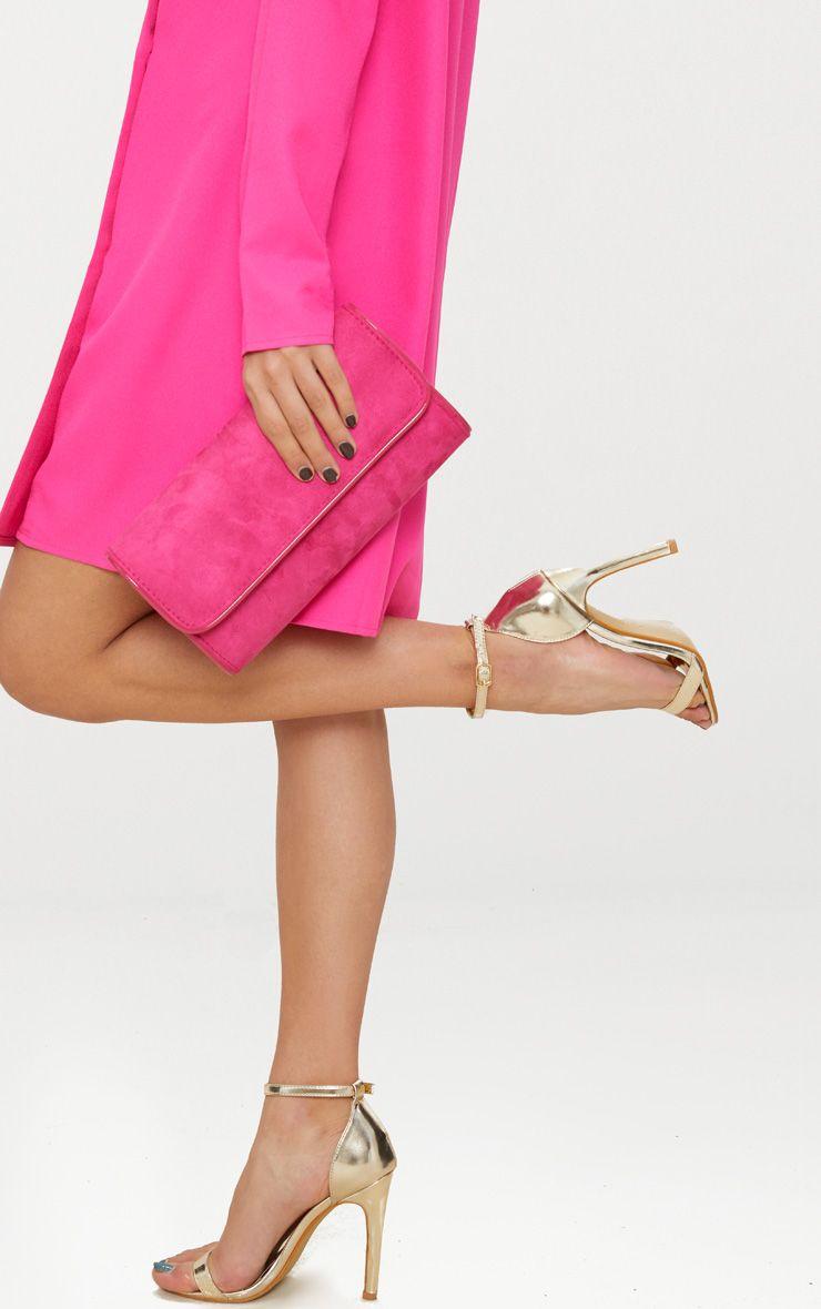 Pink Fold Over Cross Body Bag