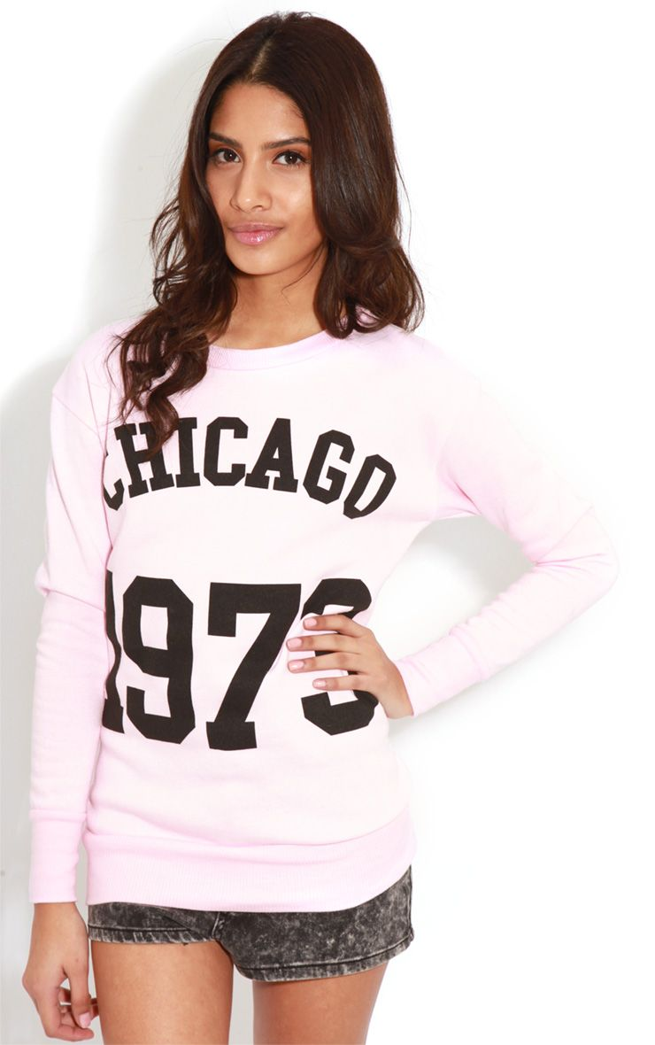 Riley Pink Chicago 1973 Sweater 1