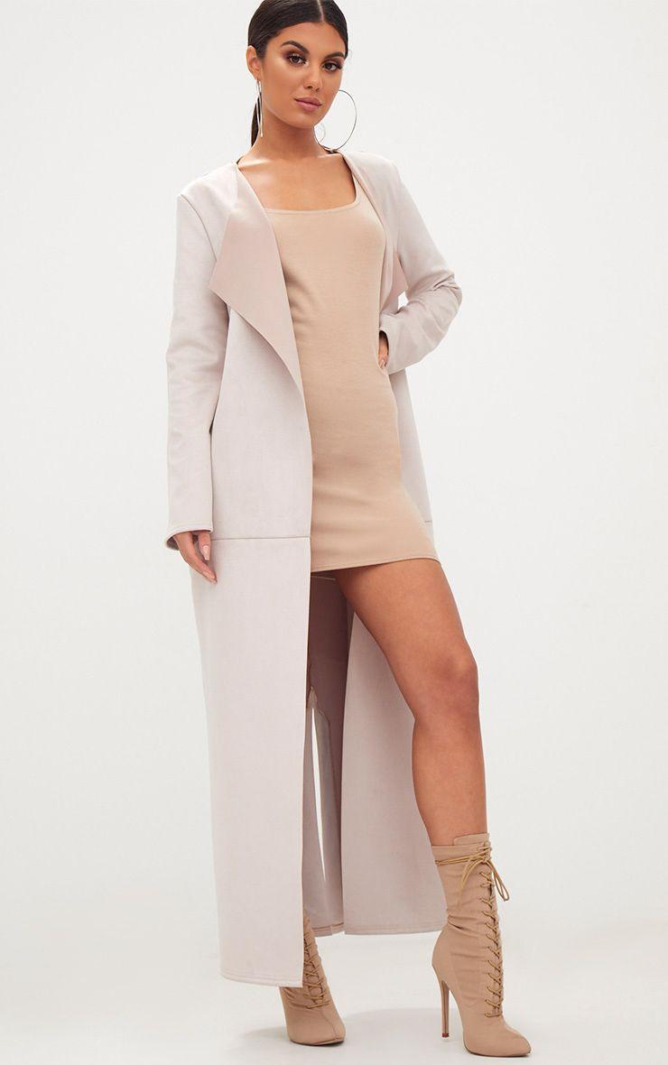 Suede Maxi Dress