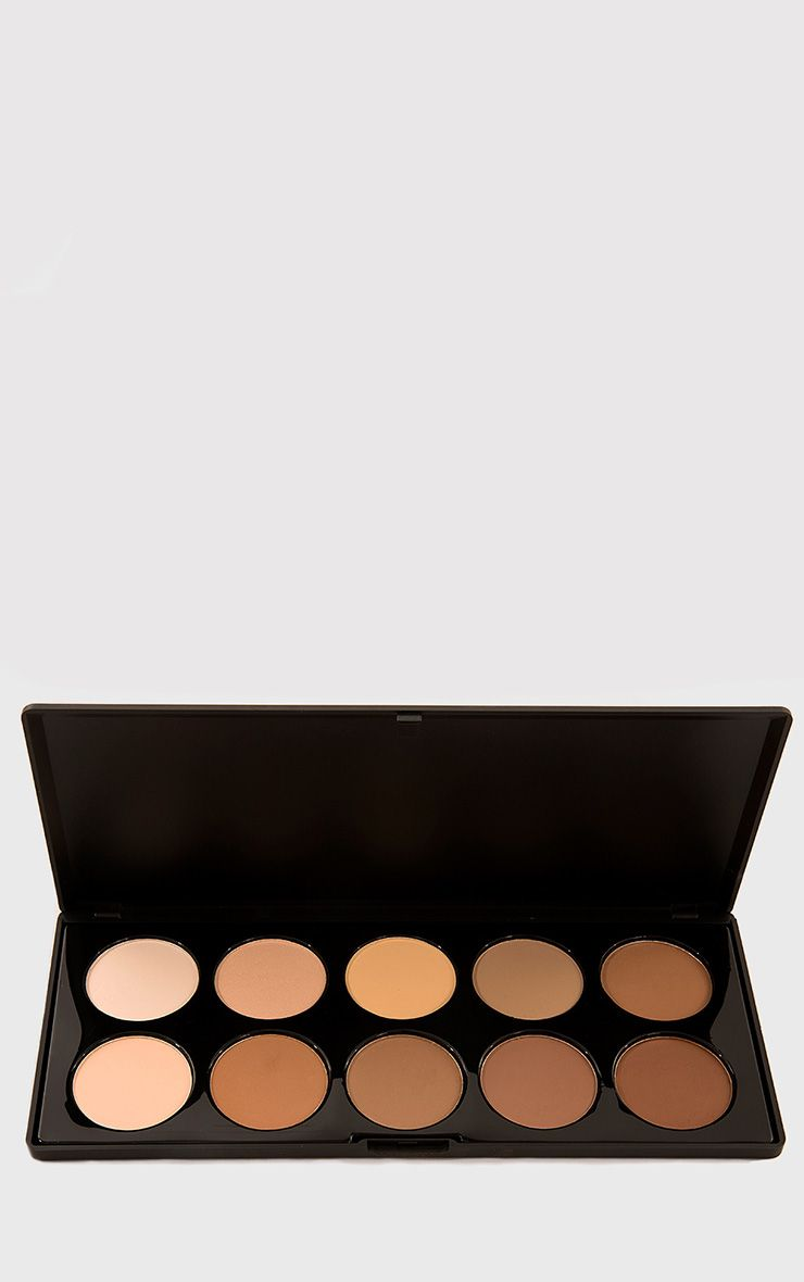 Crown 10 Colour Pressed Powder Contour Palette