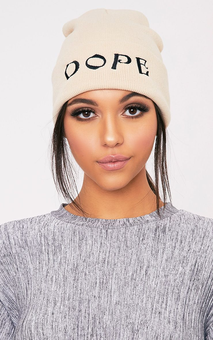 Dope Slogan Stone Beanie Hat