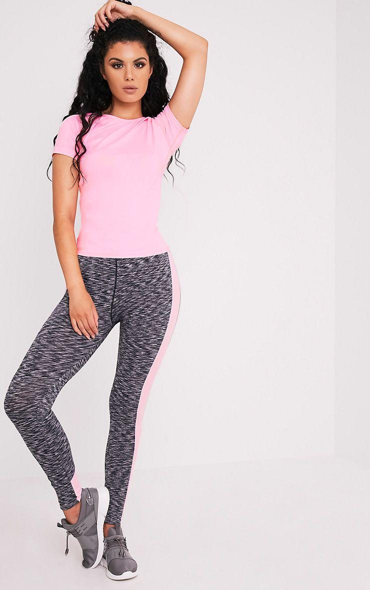 Tia t-shirt de sport à manches courtes rose bébé 5