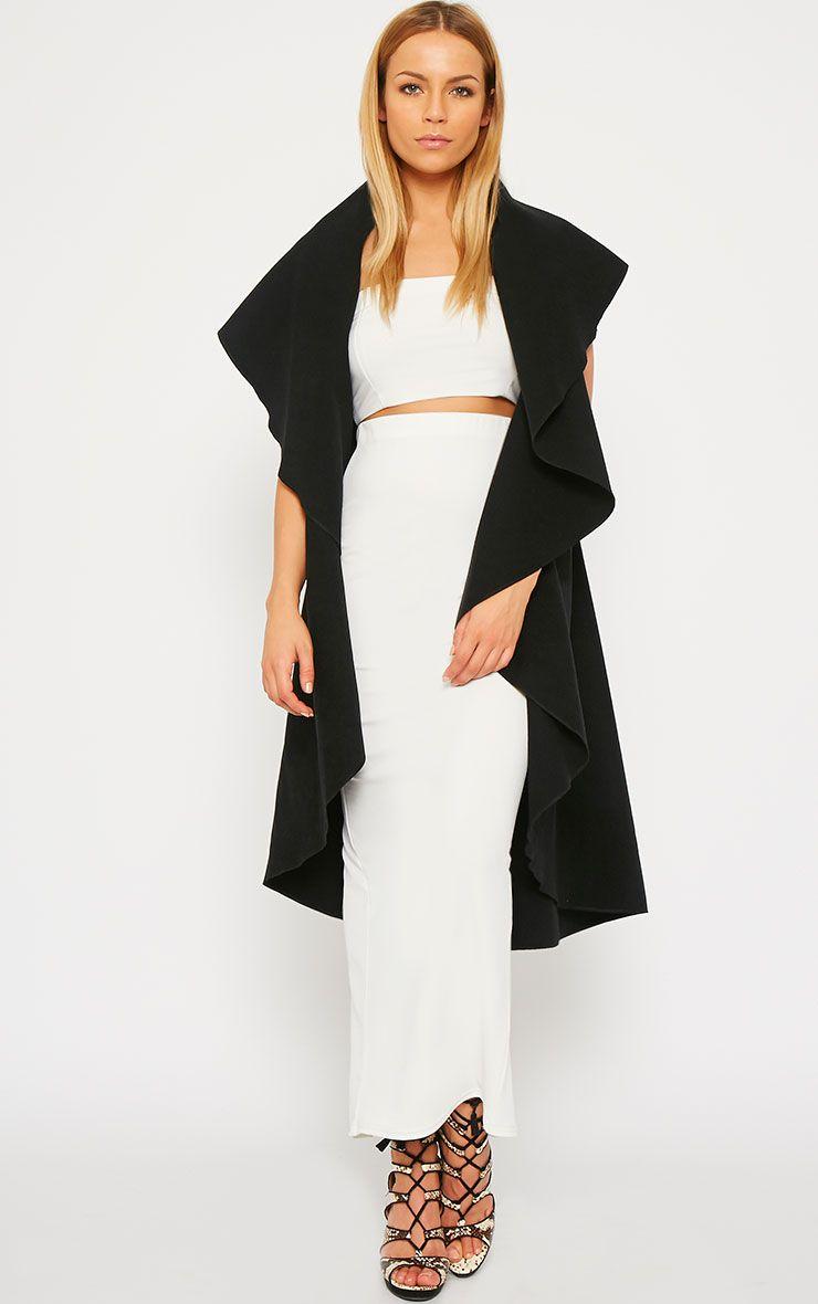 Vivian Black Waterfall Waistcoat 1