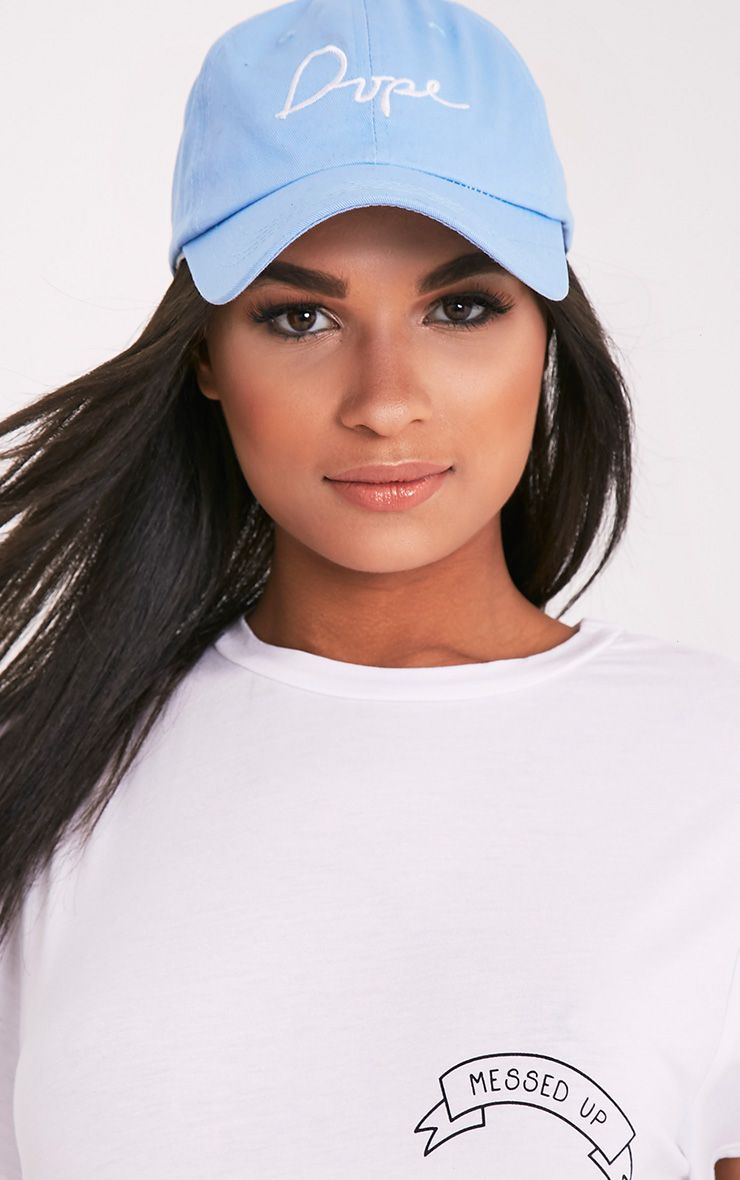 Dope Slogan Blue Baseball Cap