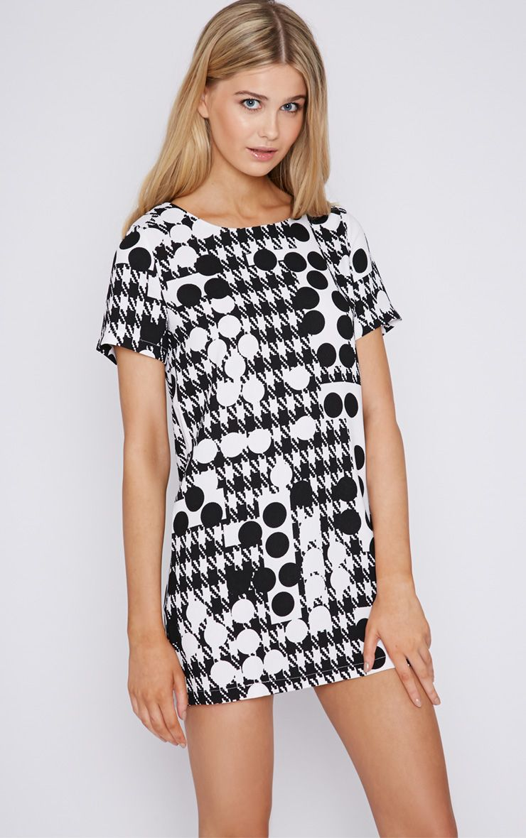 Keeley Monochrome Print Shift Dress 1