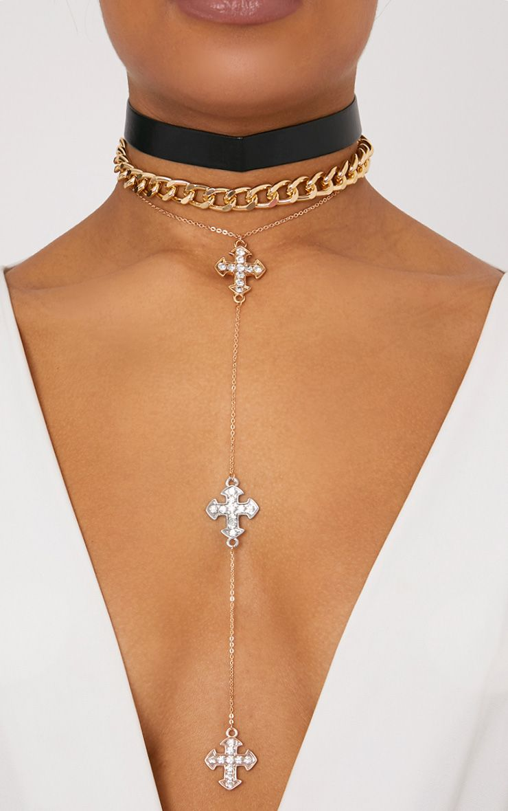 3 Pack Gold Layered Choker