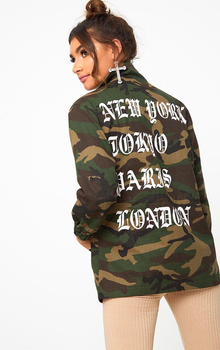 Khaki Camouflage Printed Jacket