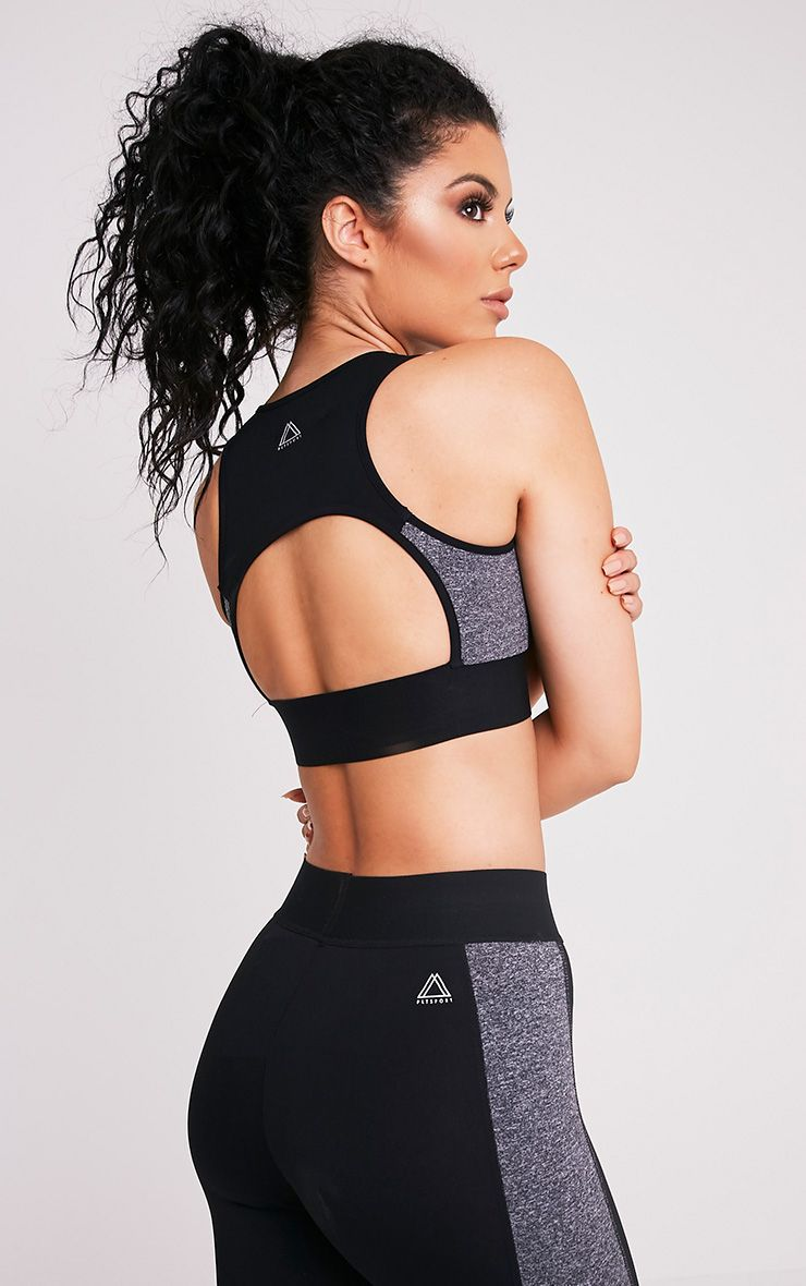 Jodie Black Racer Back Crop Top