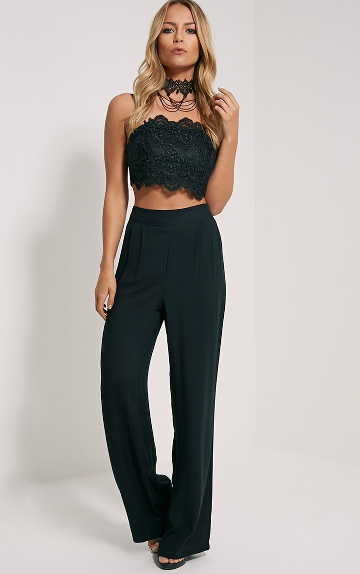 Posey Black Relax Fit Trousers 1