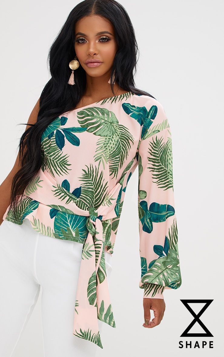Shape Tropical One Shoulder Top