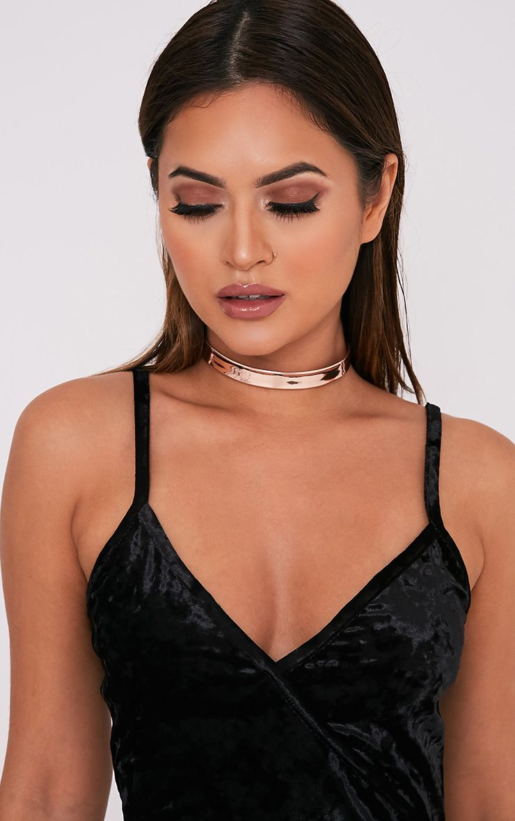 Tegan Rose Gold Holographic Choker