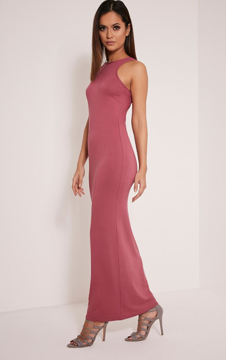 Basic Rose Racer Neck Maxi Dress 1