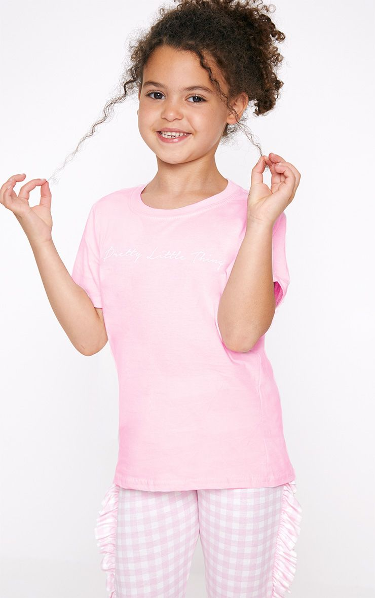 PrettyLittleThing Pink T Shirt