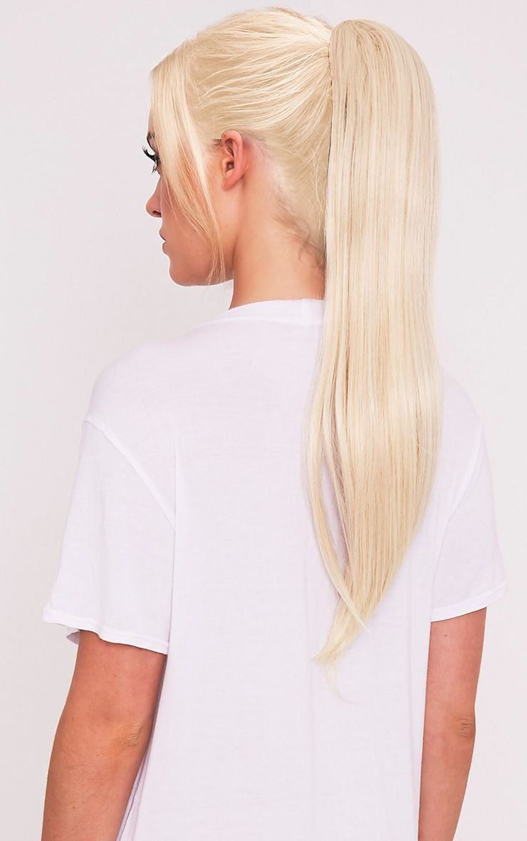 Light Blonde Clip In Straight Ponytail