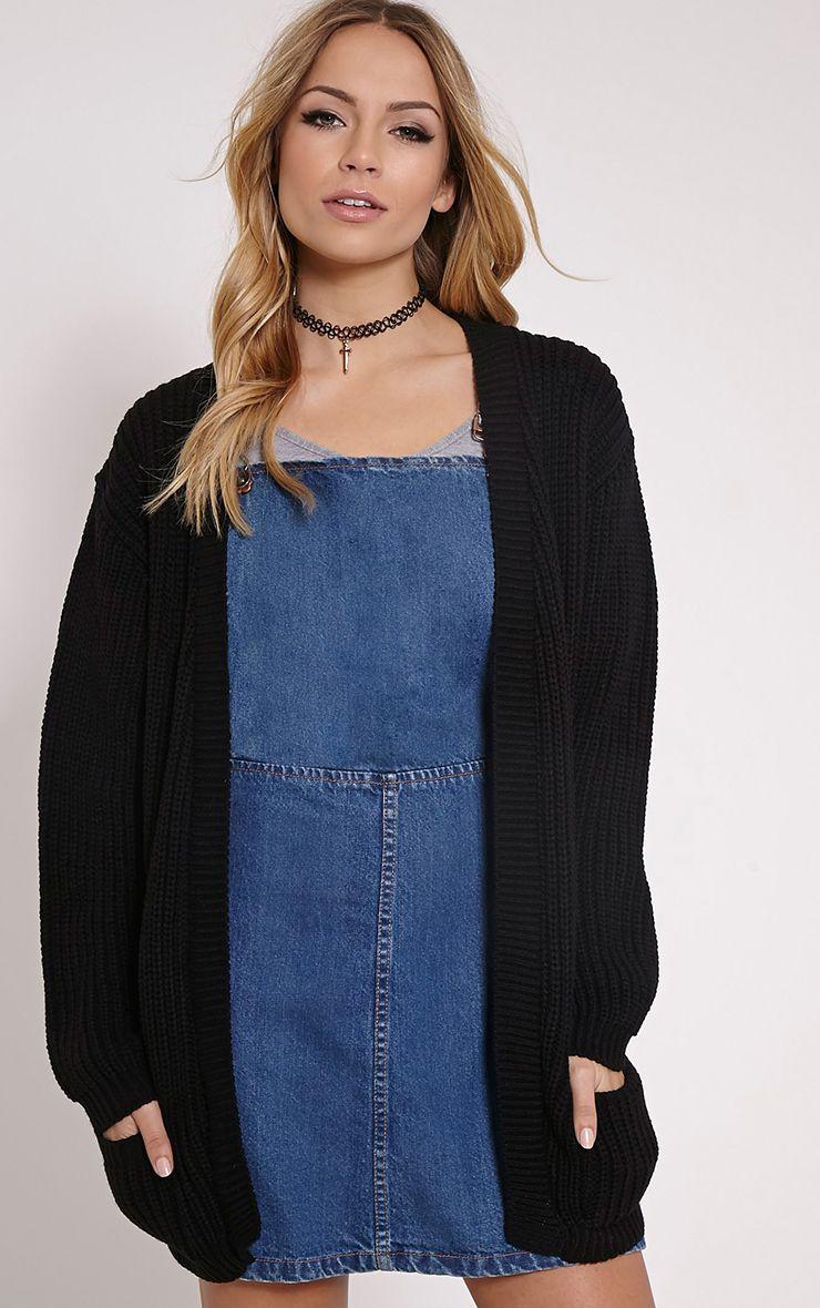 Whitney Black Oversized Cardigan 1