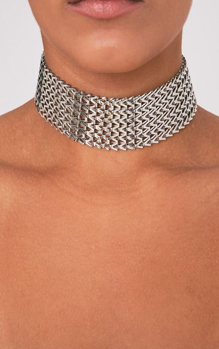 Klia Silver Chain Choker