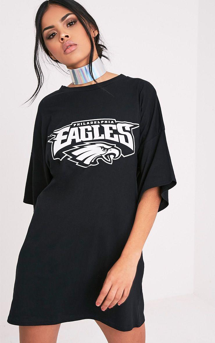 Philadelphia Eagles Black Slogan T Shirt Dress