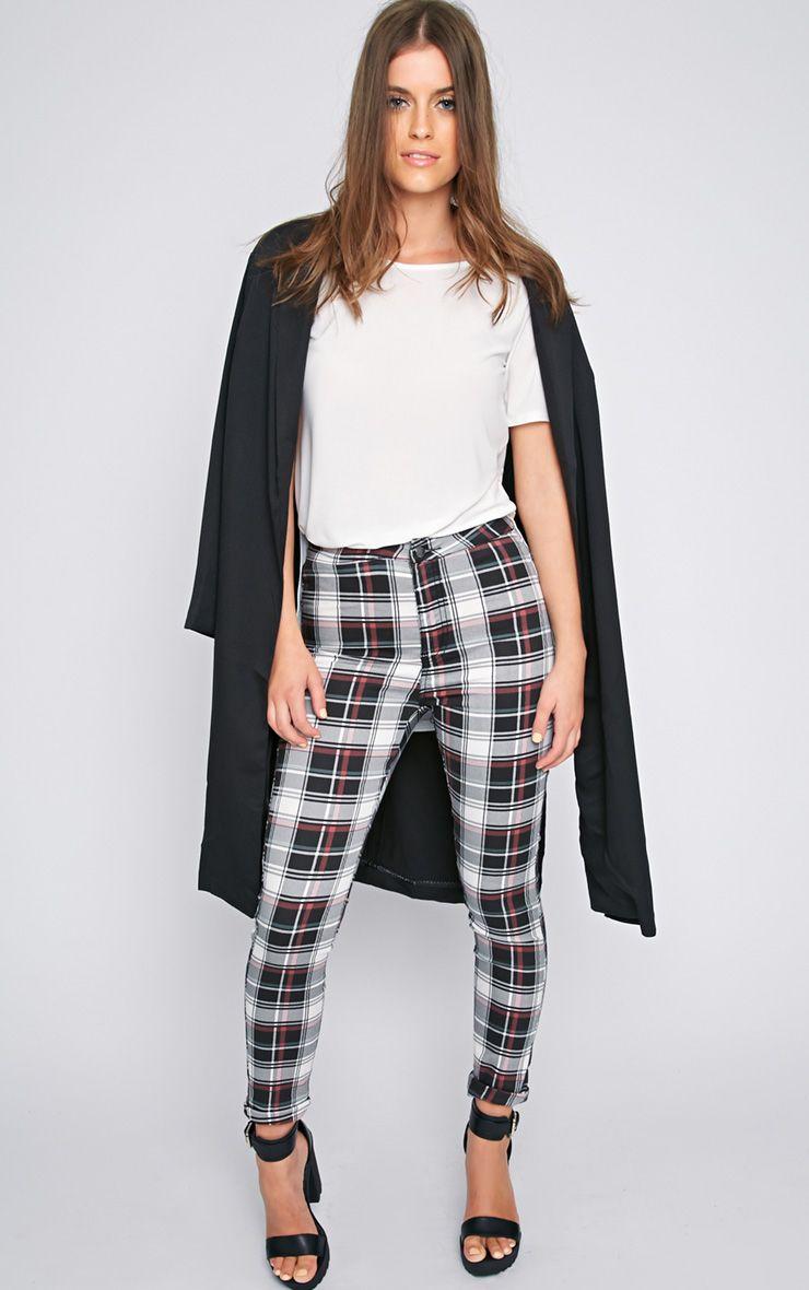 Cecilia High Waist Tartan Trouser  1