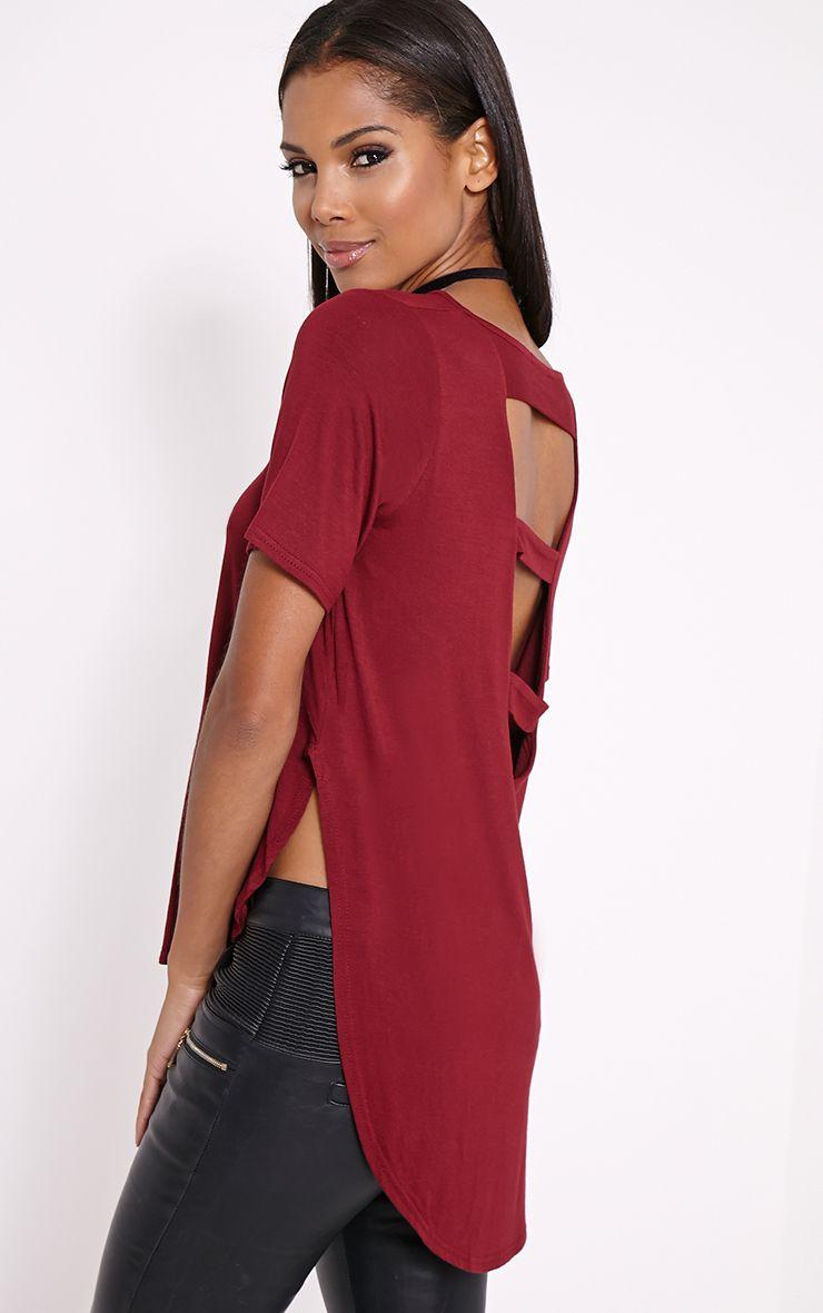 Ashby Wine Strap Back Jersey T-Shirt 1