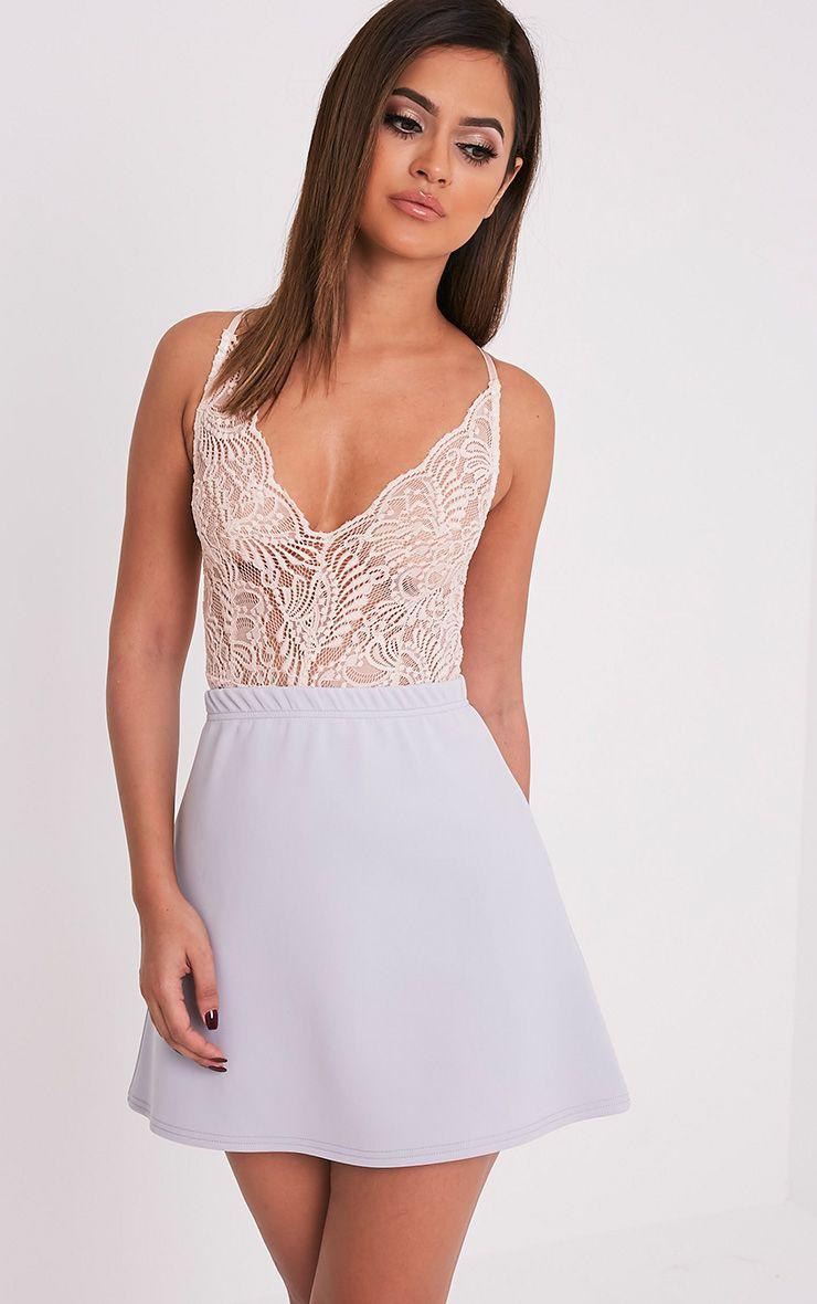 Jessica Grey A-Line Mini Skirt